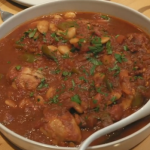 Matt and Steph Hulme smoked paprika chicken stew with butter beans  recipe on Eat Well For Less?