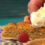 Simon Rimmer oat tart with honey and berries recipe on Sunday Brunch