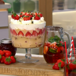 Phil Vickery summer pimms trifle with white chocolate and strawberries recipe on This Morning