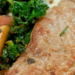 Gregg Wallace pork loin with apples, kale and honey recipe on Eat Well For Less?