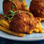 Simon Rimmer chicken Kiev bites with paprika skinny fries recipe on Sunday Brunch