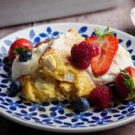 Simon Rimmer polenta and ricotta pudding recipe on Sunday Brunch