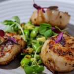 Simon Rimmer Scallops with Cucumber and Avocado Salad recipe on Sunday Brunch
