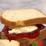 Juliet Sear scone-wiches with jam and clotted cream recipe on This Morning