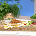 Nisha Katona spicy pork escalopes with cucumber salad recipe on This Morning