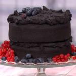 Simon Rimmer black cocoa cake recipe on Sunday Brunch