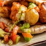 Simon Rimmer Potato and Halloumi Pitas recipe on Sunday Brunch
