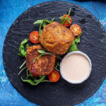 Simon Rimmer Crunchy Salmon and Nduja Fishcakes With a Thousand Island Dipping sauce recipe on Sunday Brunch