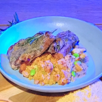 Simon Rimmer lamb chops with bean gratin recipe on Steph's Packed Lunch