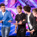 Overload singing No, No, No at The X Factor 2014 Arena Auditions