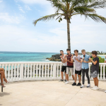 Where did Louis Walsh stay in Bermuda  on the groups X Factor Judges House?