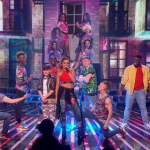 Lauren Platt sing How Will I Know?  and dance with her brother Louise on The X Factor 2014