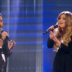 Andrea Faustini  duet with Ella Henderson on The X Factor 2014 final singing Ghost
